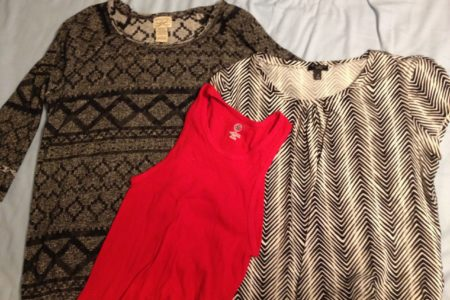 My haul from Thrift Avenue